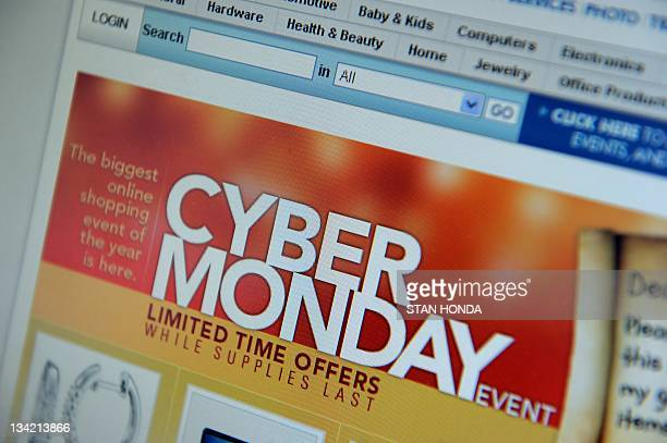 Cyber Monday specials are seen on the Costo website November 28 2011 in New York Consumers were likely to continue the Black Friday trend on Monday...