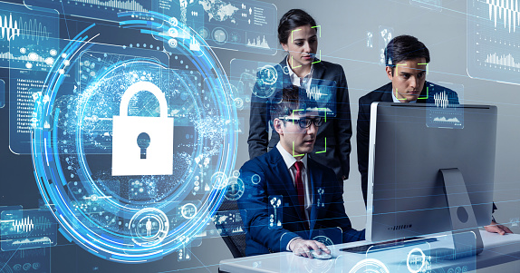 Cyber security concept. Network protection. 1169668290