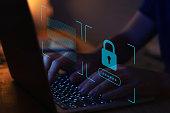 cyber security, digital crime concept