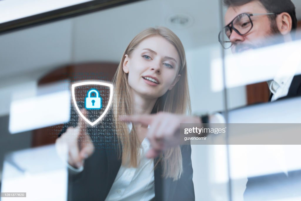 Cyber security systems for business network : Stock Photo
