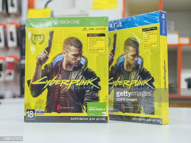 Cyberpunk game discs for PlayStation and XBox consoles. The first week of sales revealed problems with the game for owners of older consoles.