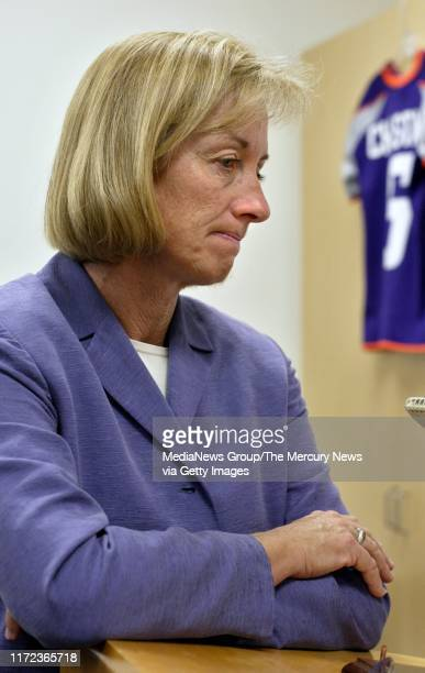 SIMON 9/15/2003 CyberRays General Manager Marlene Bjornsrud shows her dissapointment as she answers questions after a news conference announcing that...