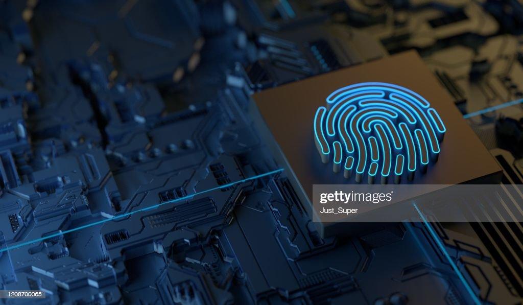 Cybersecurity Digitale Beveiligingstechnologie : Stockfoto