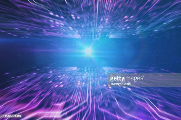 cyberspace and light - computerspiel konsole stock-fotos und bilder