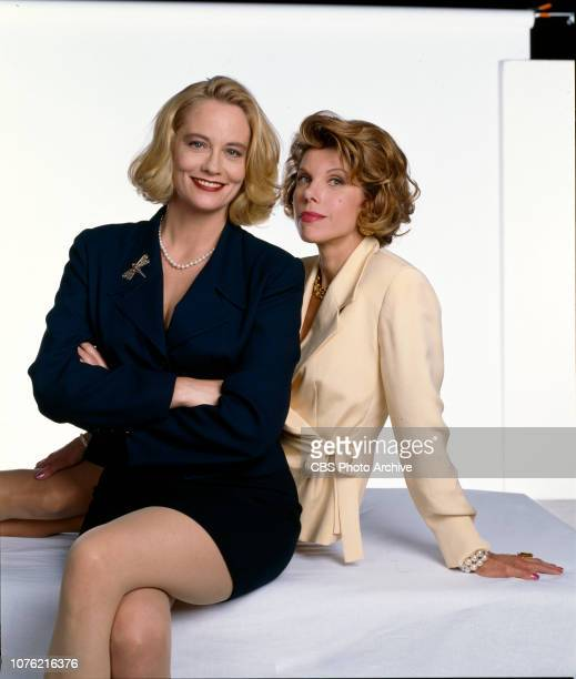 Cybill a CBS television sitcom about a struggling actress whose career has passed its peak Pictured from left is Cybill Shepherd Christine Baranski...