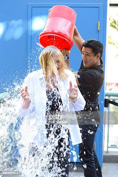 ice bucket challenge pictures and photos getty images