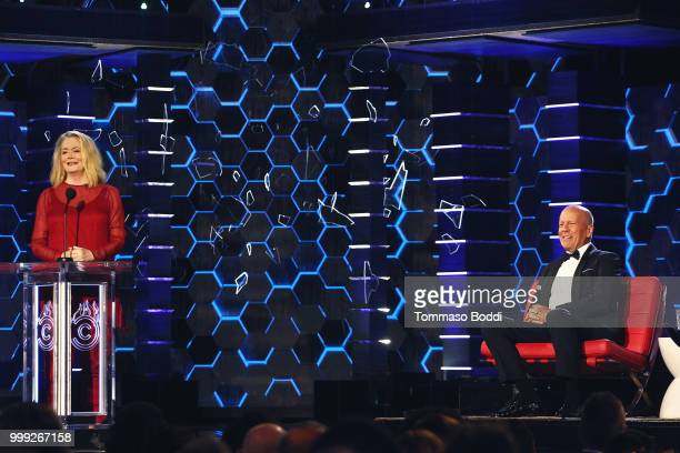 Cybill Shepherd and Bruce Willis attend the Comedy Central Roast Of Bruce Willis on July 14 2018 in Los Angeles California