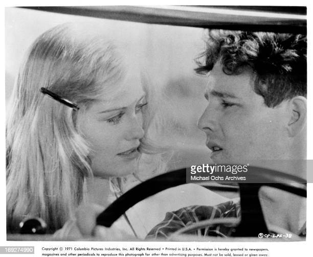 Cybill Shepherd charms Timothy Bottoms in a scene from the film 'The Last Picture Show' 1971