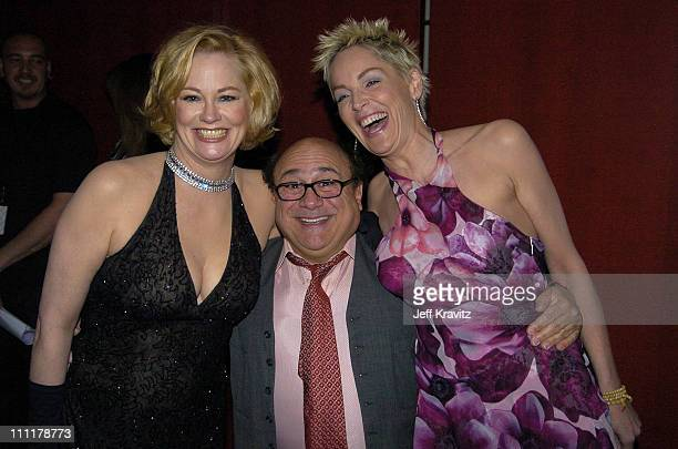 Cybill Shepherd Danny DeVito and Sharon Stone during 2004 TV Land Awards Airing March 17 2004 Backstage/Audience at The Pallidium in Hollywood...