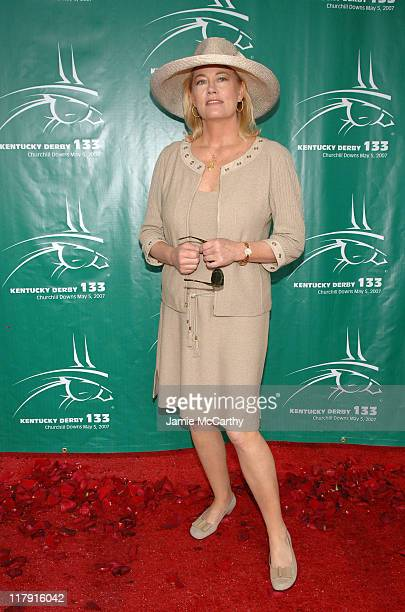 Cybill Shepherd during 133rd Kentucky Derby Arrivals and Atmosphere at Churchill Downs in Louisville Kentucky United States