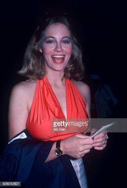 Cybill Shepherd in an orange halter top circa 1970 New York