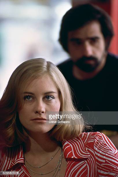 Cybill Shepherd on the set of Martin Scorsese's Taxi Driver