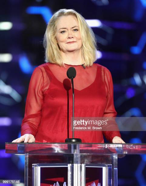 Cybill Shepherd speaks onstage during the Comedy Central Roast of Bruce Willis at Hollywood Palladium on July 14 2018 in Los Angeles California