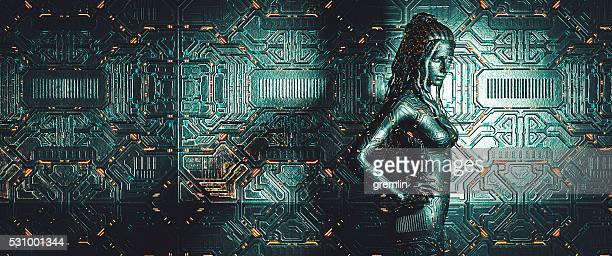 Cyborg in Raumschiff
