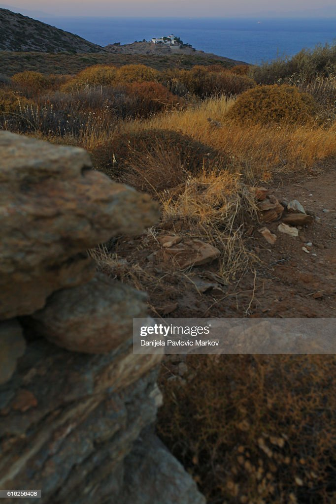 Cyclades dusk : Foto de stock