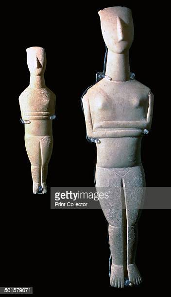 Cycladic figures 62 and 64 from the British Museum's collection 25th century BC