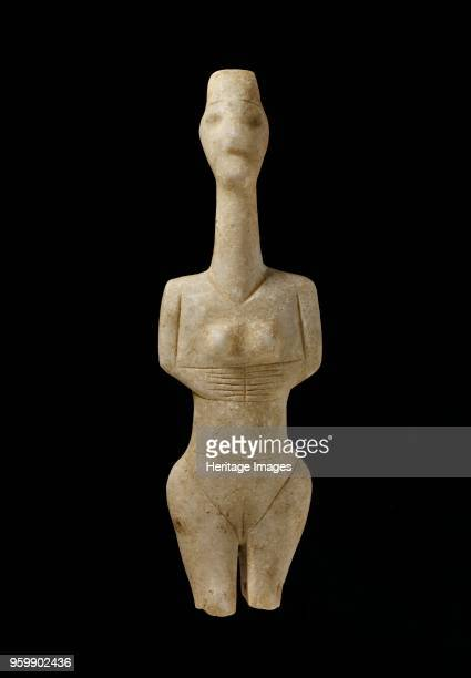 Cycladic figurine Early Cycladic I Period c3100c2800BC Cycladic figurine naturalistic Plastiras type Dimensions height 20 cmArtist Unknown