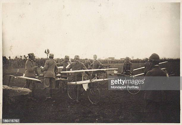 ARMY Cycle races during the party for the delivery of the medal to Pisa Brigade 1918 Gelatine process Rome Central Museum of the Risorgimento
