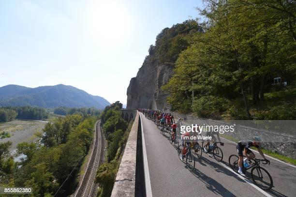 100th Giro dell'Emilia 2017 Landscape / Peloton / Bologna BolognaSan Luca 268m / GDE /