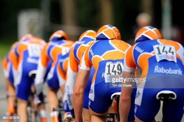 100Th Giro D'Italia 2009 Stage 1Illustration Illustratie Team Rabobank De Groot Bram / Menchov Denis / Ardila Cano Mauricio Alberto / Ten Dam Laurens...