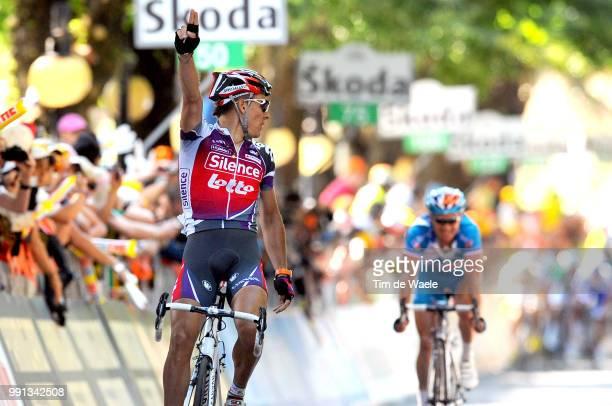 100Th Giro D'Italia 2009 Stage 20Arrival Gilbert Philippe Celebration Joie Vreugde Voeckler Thomas Napoli Anagni Tour Of Italy Tour Italie Ronde Van...