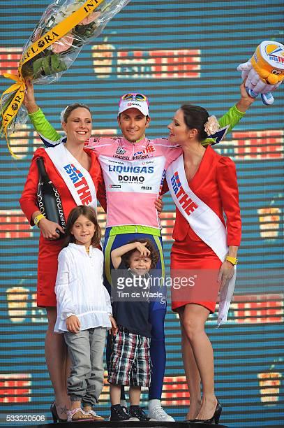 100th Giro d'Italia 2009 / Stage 21 Podium / Ivan BASSO Pink Jersey / Domitilla Basso Daughter Fille Dochter / Santiago BASSO Son Fils Zoon...