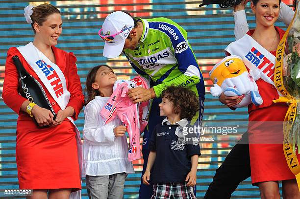 100th Giro d'Italia 2009 / Stage 21 Podium / Ivan BASSO Pink Jersey / Domitilla Basso Daughter Fille Dochter / Santiago BASSO Son Fils Zoon...