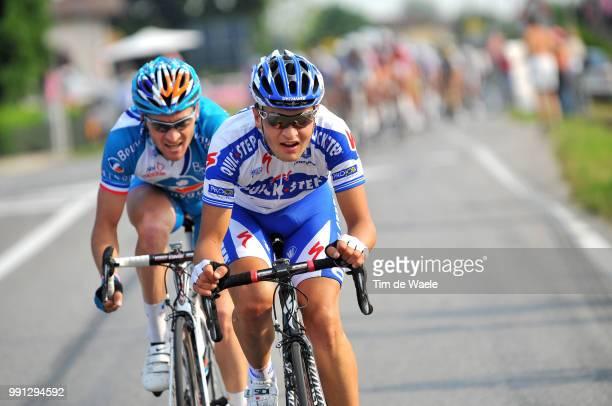 100Th Giro D'Italia 2009 Stage 3Malacarne Davide / Voeckler Thomas Grado Valdobbiadene Tour Of Italy Tour Italie Ronde Van Italie Rit Etape Tim De...