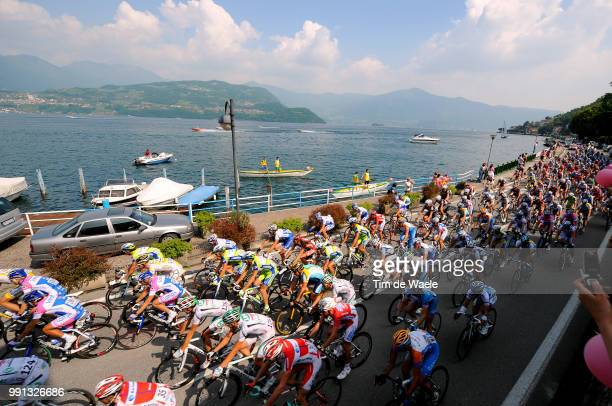 100Th Giro D'Italia 2009, Stage 8Illustration Illustratie, Peleton Peloton, Barzio City Ville Stad, Culmine Di San Pietro, Lac Como Lake Meer,...