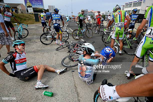 100th Tour de France 2013 / Stage 1 Tony MARTIN / Tony GALLOPIN / Peter SAGAN / Crash Chute Val Injury Blessure Val / PortoVecchio Bastia / Ronde van...