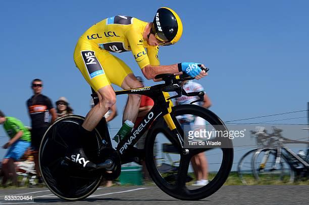 100th Tour de France 2013 / Stage 11 Christopher Froome Yellow Jersey / Avranches MontSaintMichel / Time Trial Contre la Montre Tijdrit TT / Ronde...