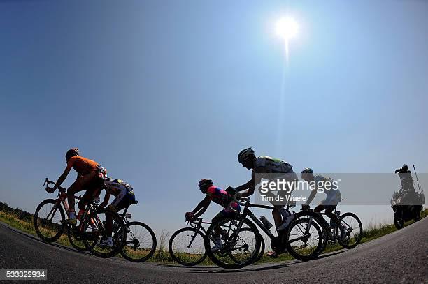 100th Tour de France 2013 / Stage 12 Illustration Illustratie / Silhouet / Francesco Gavazzi / Juan Antonio Flecha / Manuele Mori / Anthony Delaplace...