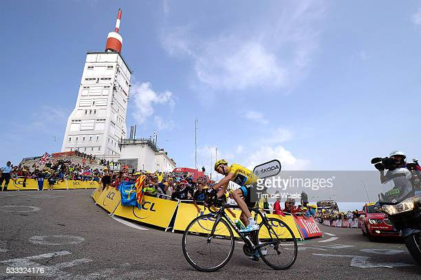 100th Tour de France 2013 / Stage 15 Christopher Froome Yellow Jersey / Mont Ventoux / Illustration Illustratie / Landscape Paysage Landschap /...