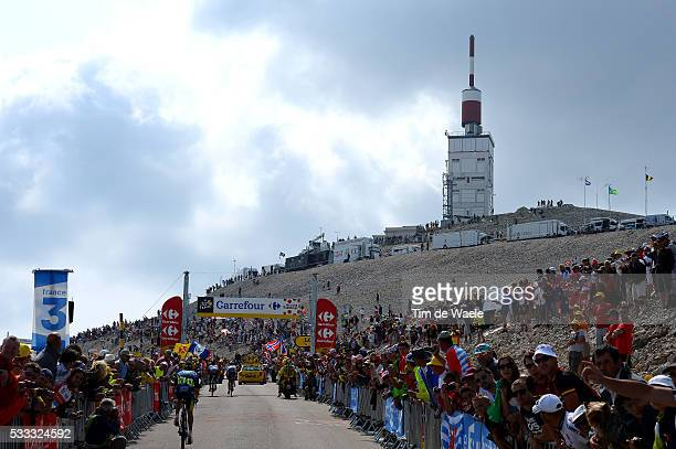 100th Tour de France 2013 / Stage 15 Illustration Illustratie / Mont Ventoux / Peleton Peloton / Public Publiek Spectators Fans Supporters /...