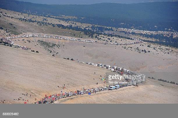 100th Tour de France 2013 / Stage 15 Illustration Illustratie / Peleton Peloton Mont Ventoux / Landscape Paysage Landschap / Givors - Mont Ventoux /...