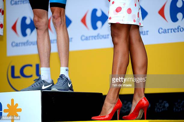 100th Tour de France 2013 / Stage 18 Podium / Illustration Illustratie Miss Hostess Model Sexy Christopher Froome / Gap Alped'Huez 1850m dHuez /...
