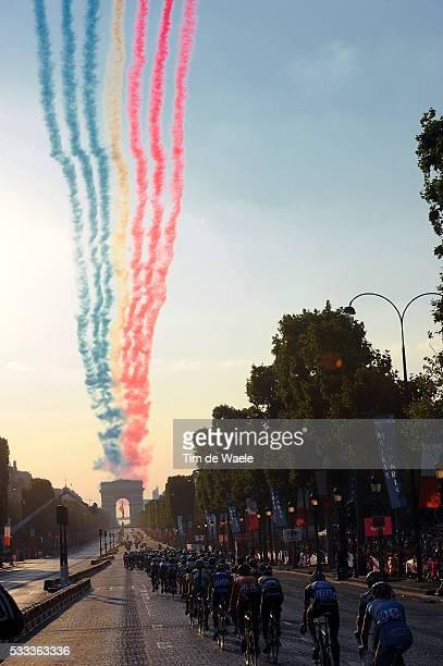 100th Tour de France 2013 / Stage 21 Illustration Illustratie / Peleton Peloton / Patrouille de France Arc de Triomph / Landscape Paysage Landschap /...