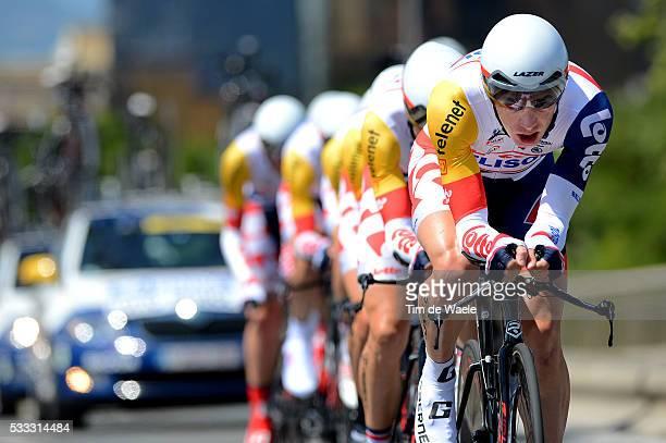 100th Tour de France 2013 / Stage 4 Team Lotto Belisol / Jurgen Roelandts / Andre Greipel / Marcel Sieberg / Jurgen Van Den Broeck / Lars Ytting Bak...