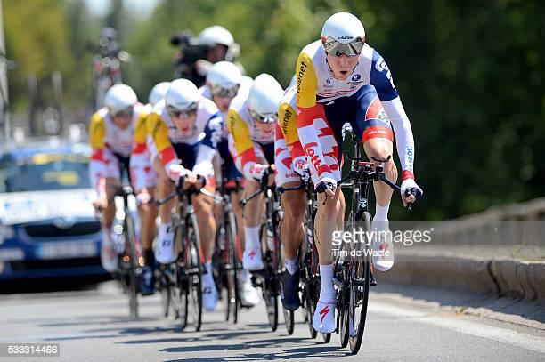 100th Tour de France 2013 / Stage 4 Team Lotto Belisol / Marcel Sieberg / Jurgen Van Den Broeck / Lars Ytting Bak / Bart De Clercq / Andre Greipel /...