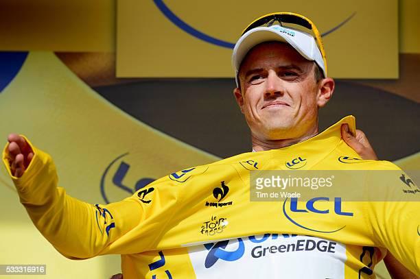 100th Tour de France 2013 / Stage 5 Podium / Simon Gerrans Yellow Jersey Celebration Joie Vreugde / Cagnes-Sur-Mer - Marseille / Ronde van Frankrijk...