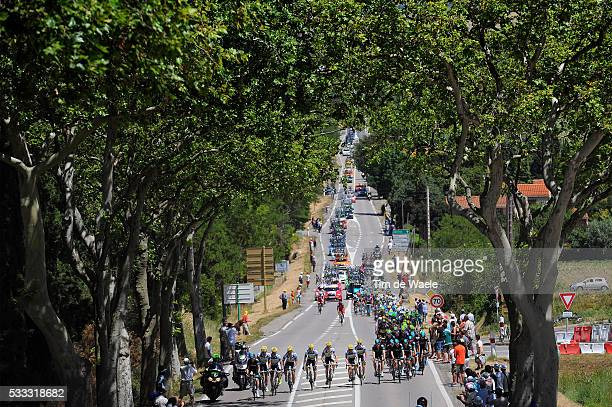 100th Tour de France 2013 / Stage 8 Illustration Illustratie / Peleton Peloton / Landscape Paysage Landschap / Castres - Ax 3 Domaines / Ronde van...