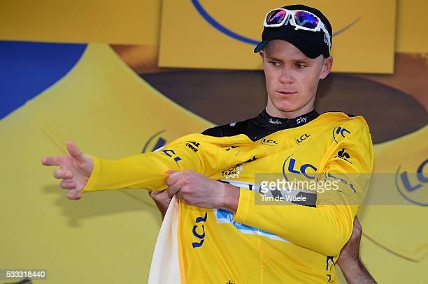 100th Tour de France 2013 / Stage 8 Podium / Christopher Froome Yellow Jersey Celebration Joie Vreugde / Castres Ax 3 Domaines / Ronde van Frankrijk...