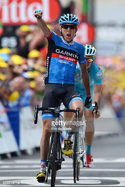 100th Tour de France 2013 / Stage 9 Arrival / Daniel MARTIN Celebration Joie Vreugde / Jakob Fuglsang / Saint-Girons - Bagneres-De-Bigorre / Ronde...