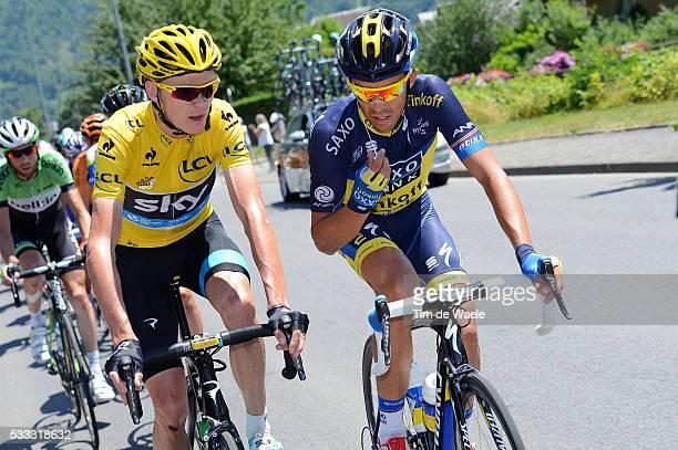 100th Tour de France 2013 / Stage 9 Christopher Froome Yellow Jersey / Alberto Contador / Saint-Girons - Bagneres-De-Bigorre / Ronde van Frankrijk...