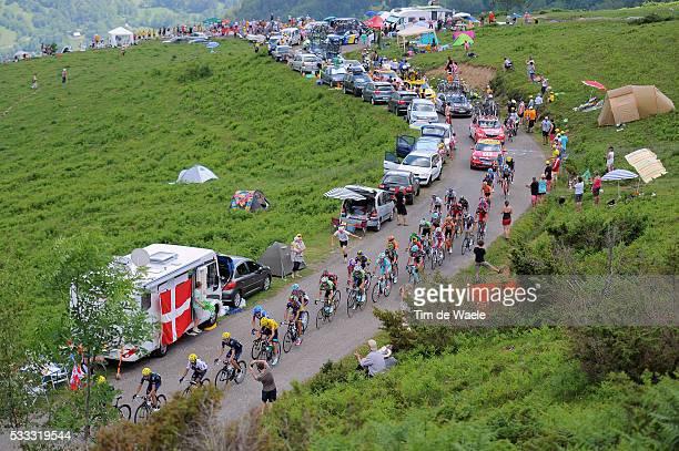 100th Tour de France 2013 / Stage 9 Illustration Illustratie / COL DE PEYRESOURDE / Peleton Peloton / Mountains Montagnes Bergen / Landscape Paysage...