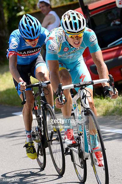 100th Tour de France 2013 / Stage 9 Jakob Fuglsang / Daniel Martin / Saint-Girons - Bagneres-De-Bigorre / Ronde van Frankrijk TDF / Rite Etape Tim De...