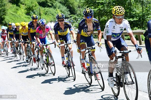100th Tour de France 2013 / Stage 9 Nairo Quintana White jersey / Saint-Girons - Bagneres-De-Bigorre / Ronde van Frankrijk TDF / Rite Etape Tim De...