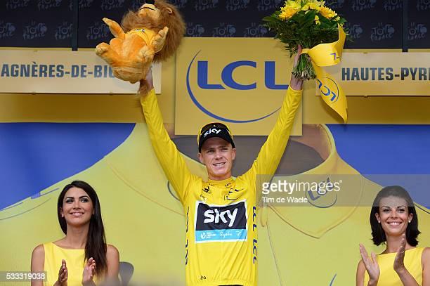 100th Tour de France 2013 / Stage 9 Podium / Christopher Froome yellow jersey / Celebration Joie Vreugde / Saint-Girons - Bagneres-De-Bigorre / Ronde...
