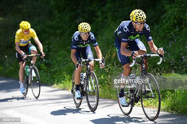 100th Tour de France 2013 / Stage 9 Ruben Plaza / Alejandro Valverde / Christopher Froome Yellow Jersey / Saint-Girons - Bagneres-De-Bigorre / Ronde...