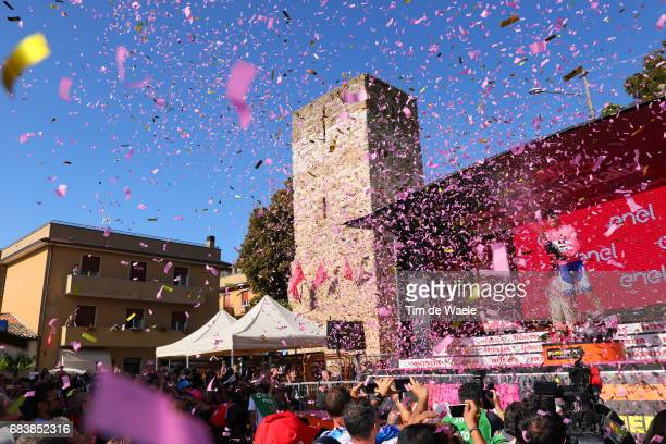100th Tour of Italy 2017 / Stage 10 Podium / Tom DUMOULIN Pink Leader Jersey / Celebration / Champagne / Foligno Montefalco 451m / Giro / Individual...